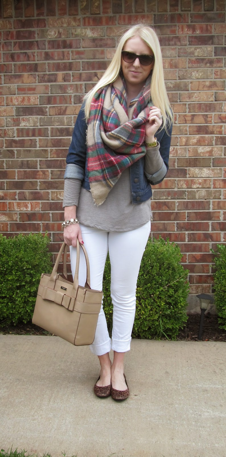 THE Plaid Scarf by Washington DC fashion blogger Styled Blonde