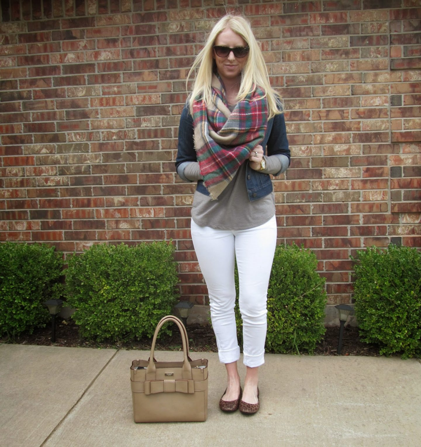 THE Plaid Scarf by Washington DC fashion blogger Styled Blonde