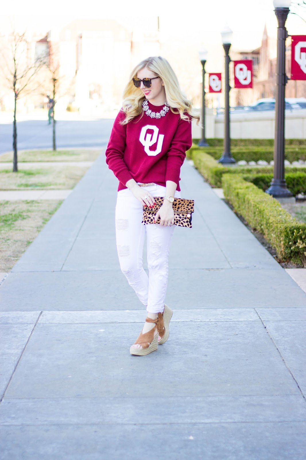 OU Clothing for Spring by Washington DC fashion blogger Styled Blonde