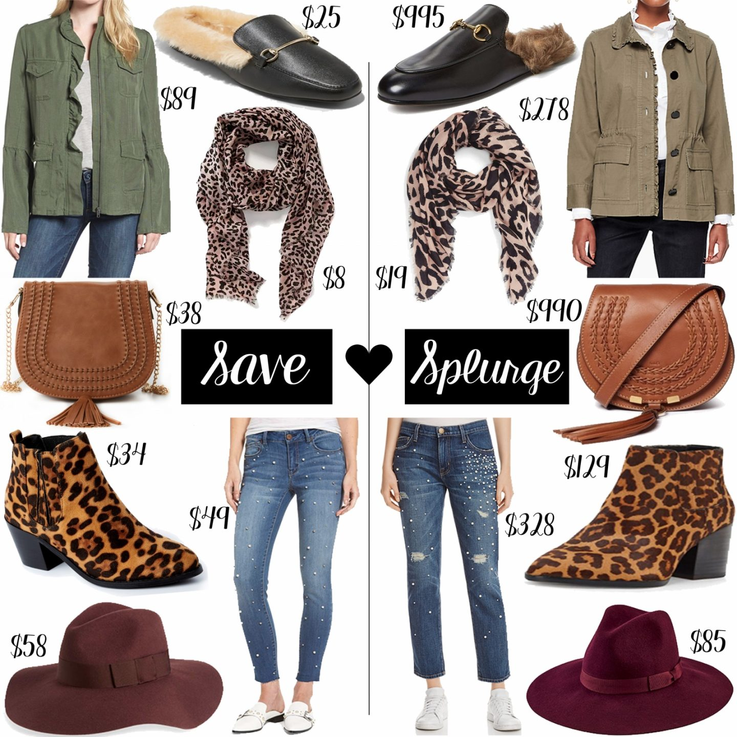 Save vs. Splurge: Fall Essentials by Washington DC fashion blogger Styled Blonde