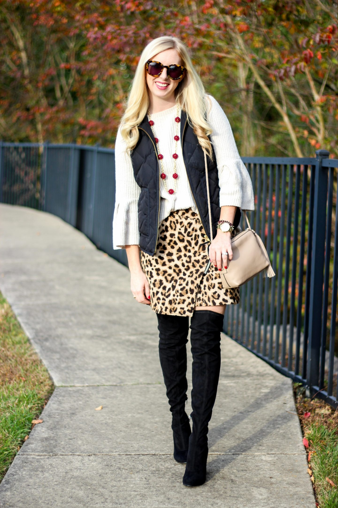 Leopard Skirt Amp Otk Boots H Amp M Fashion Styled Blonde