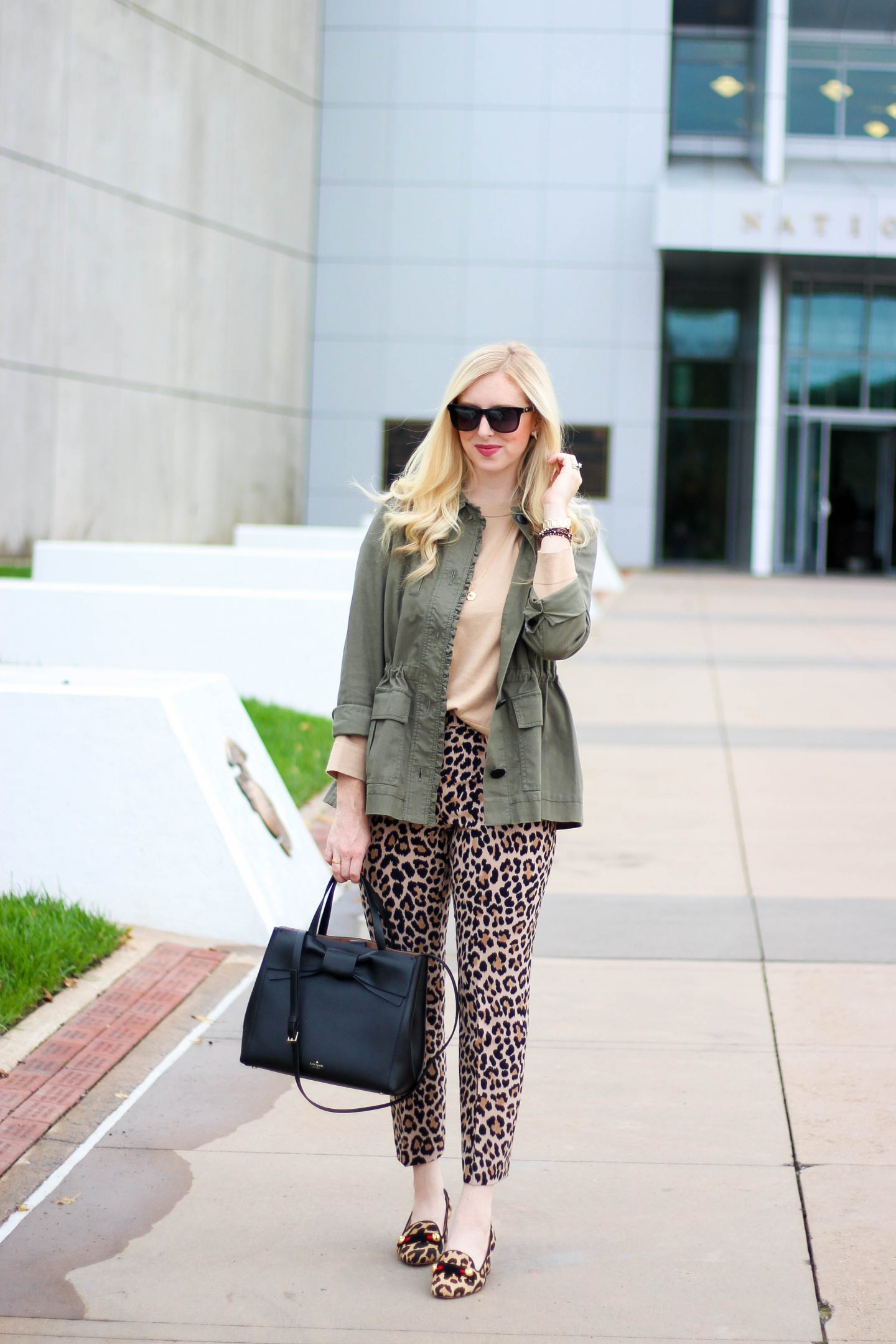 A Chic Fall Outfit Wearing Leopard x Leopard by Washington DC blogger Styled Blonde
