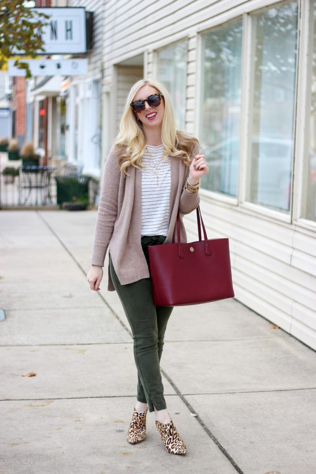 Tie Waist Pants & Leopard Mules by Washington DC fashion blogger Styled Blonde