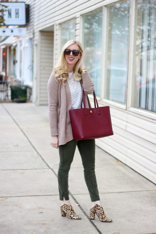 Tie Waist Pants & Leopard Mules by Washington DC fashion blogger Styled Blonde