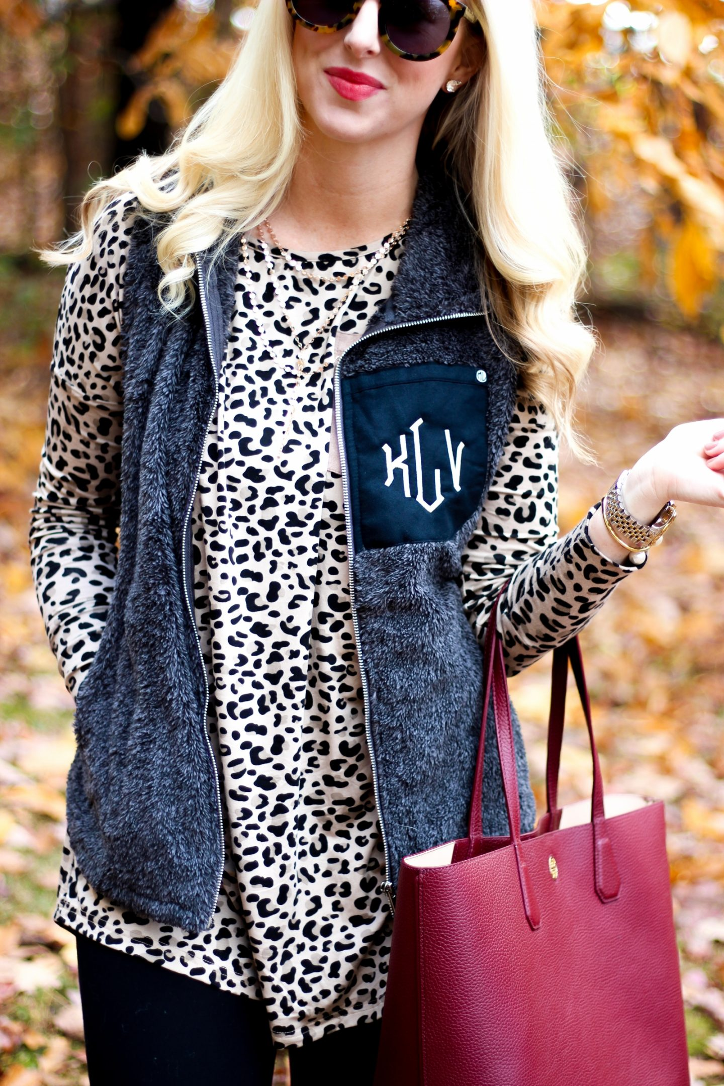 Monogrammed Vest by Washington DC style blogger Styled Blonde