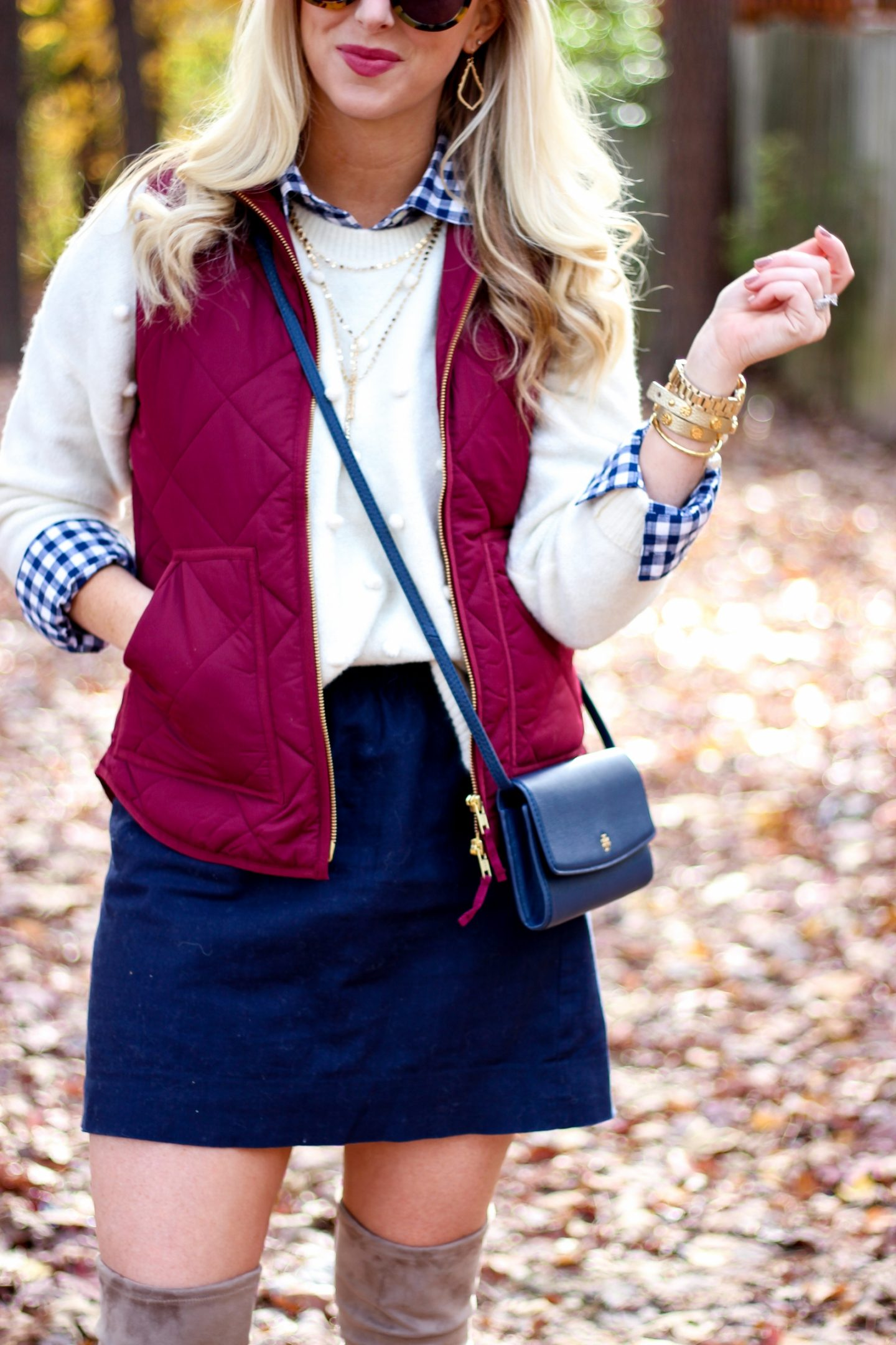Fall Layered Thanksgiving Outfit + Karl Lagerfeld Watch by Washington DC fashion blogger Styled Blonde