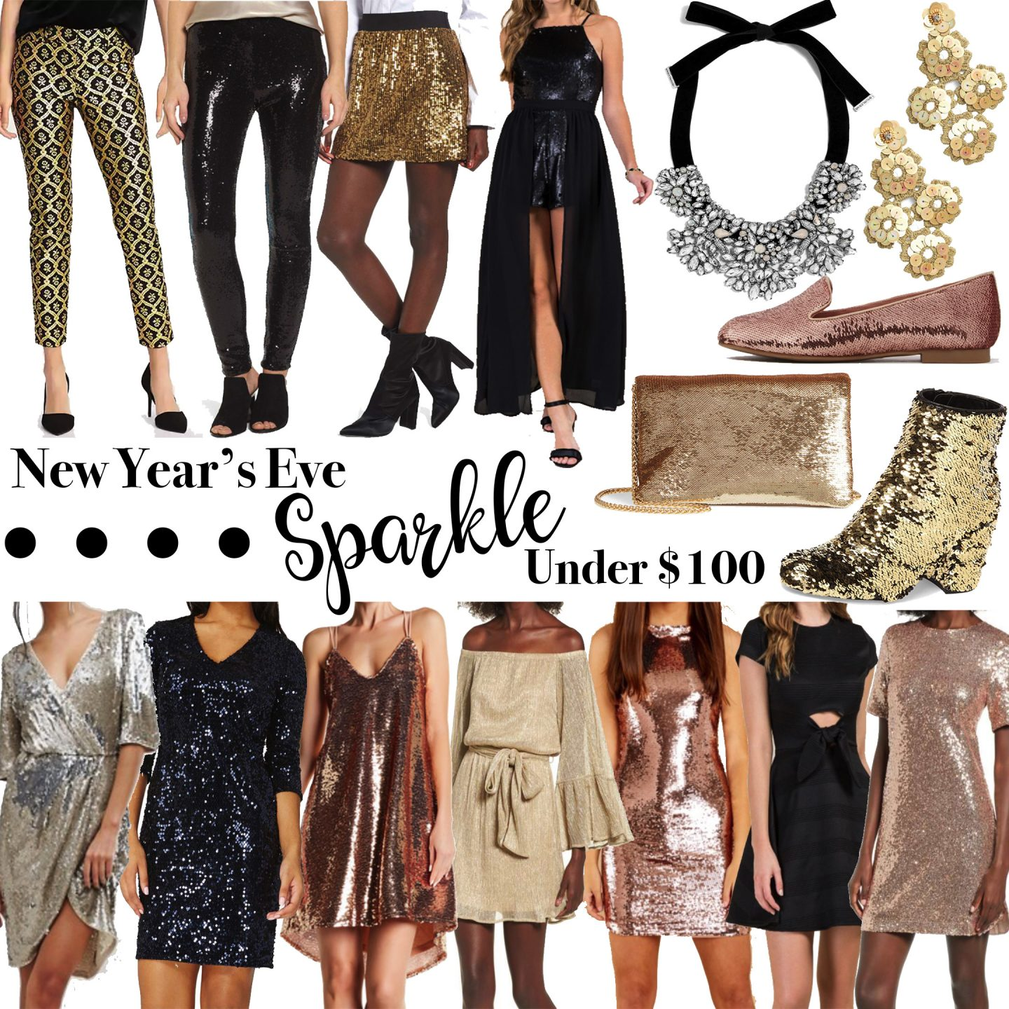New Years Eve Outfits Under $100 by Washington DC style blogger Styled Blonde