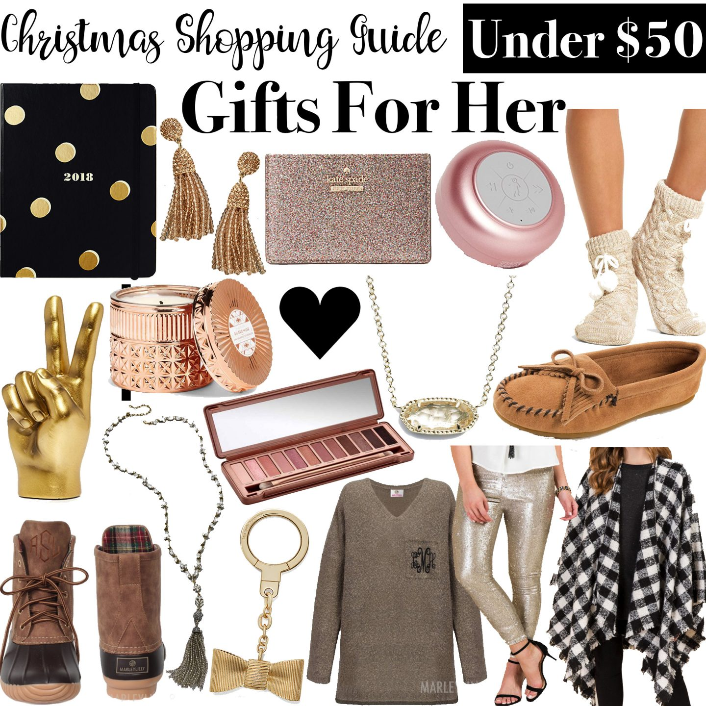 Christmas Shopping Guide: Gifts for Her Under $50 by Washington DC blogger Styled Blonde