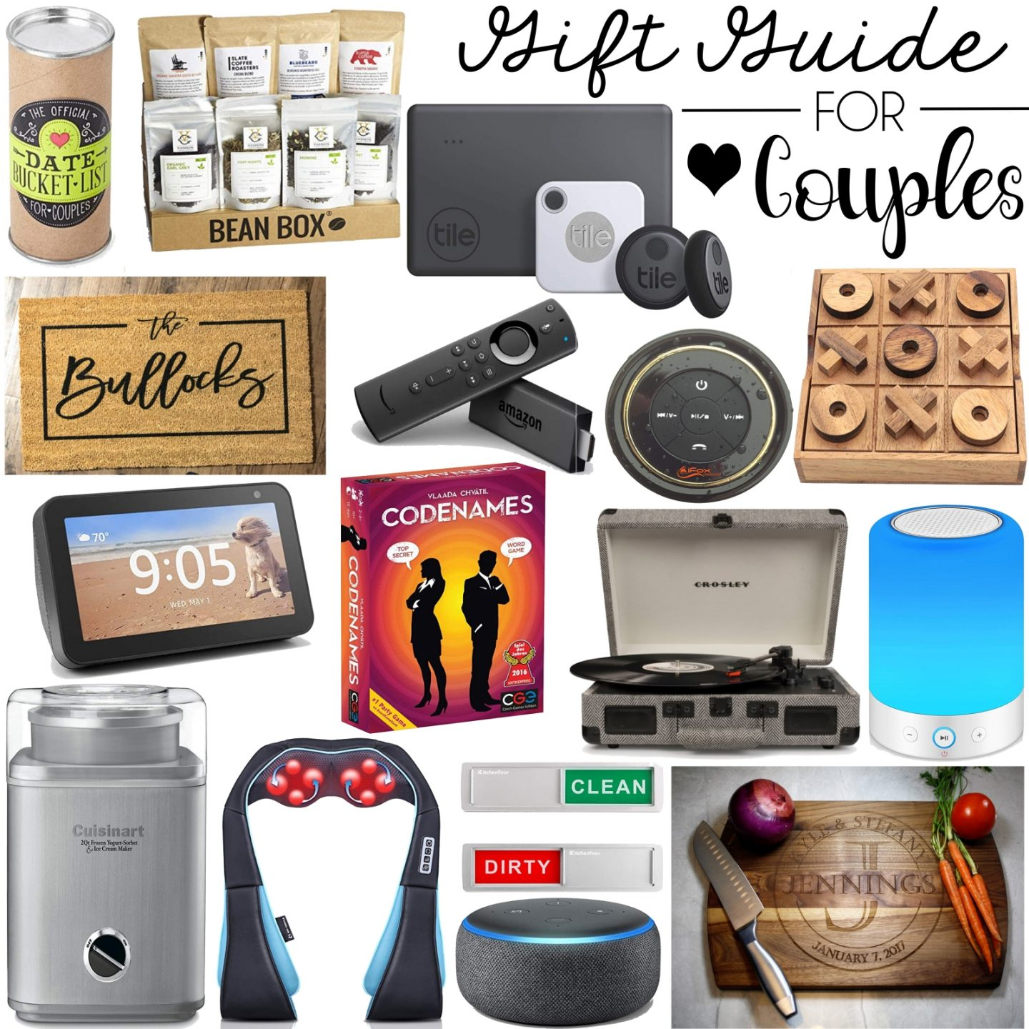 Couples Gift Ideas To Buy For The Joint Christmas Presents On Your List